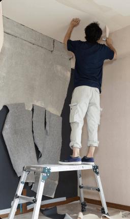 壁穴修理(壁紙柄あり/全面張替え)