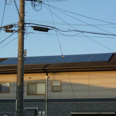 | 太陽光発電システムを設置