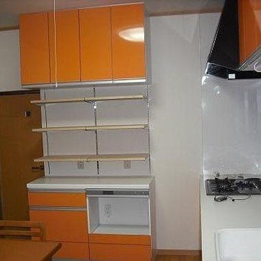| システムキッチンリフォーム後 収納スペース