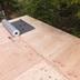 ガルバリウム屋根葺き替え 野地板張り施工中