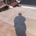 ルーフィングを貼り 心木を打った屋根
