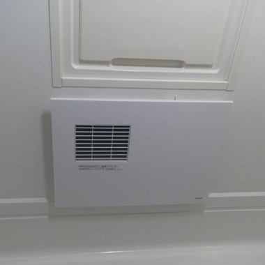 ユニットバスに換気暖房器取付