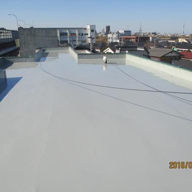 雨漏り防水塗装ほぼ完了