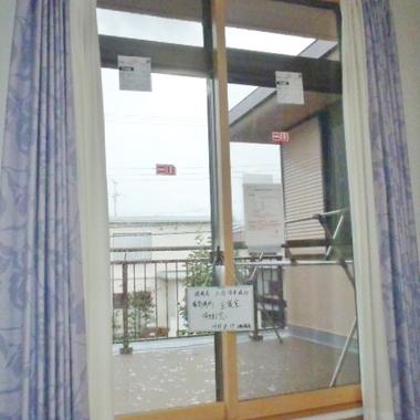 カーテン付き窓 完了