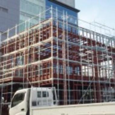 足場の設置工事
