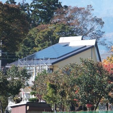 融雪太陽光発電 設置完了 斜め
