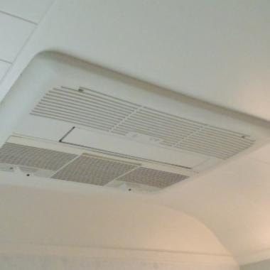 ミストサウナ付換気暖房乾燥機取り付け