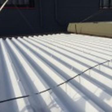 金属屋根塗装後アップ