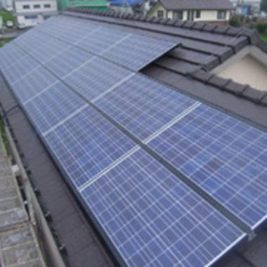 太陽光パネル設置完了