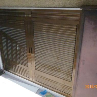 雨戸パネルを設置後 別視点