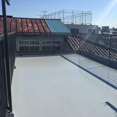 屋上防水ウレタン 手摺塗装工事 後