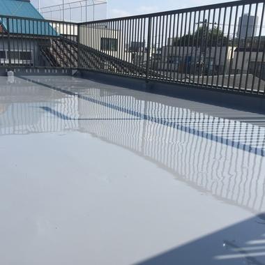 屋上防水ウレタン 手摺塗装工事 後 別視点2