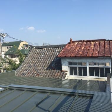 荒川区 屋根防水塗装工事 後 別視点