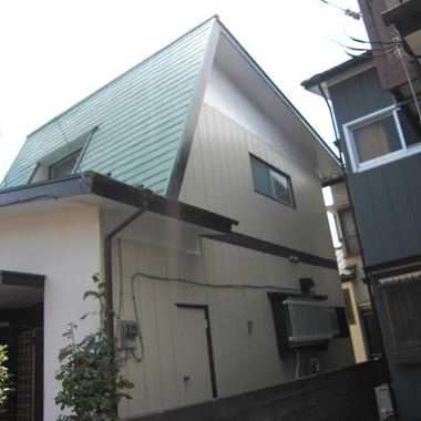 屋根と外装の塗装後