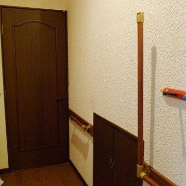 廊下に手すり設置後