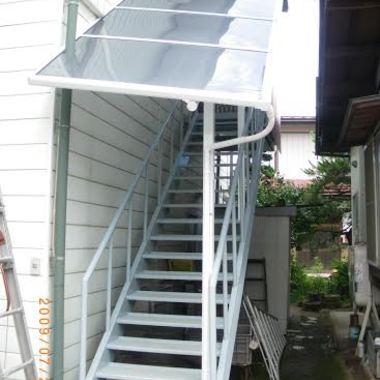 階段取り付け後