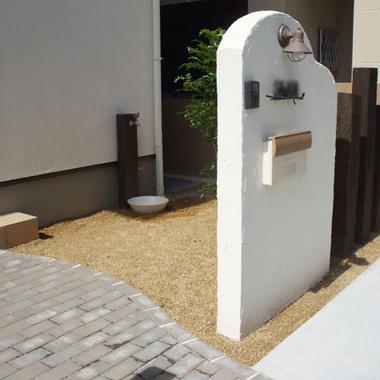 門柱工事 立水栓工事終了