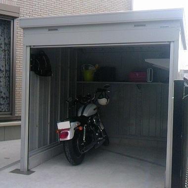 バイクガレージの設置