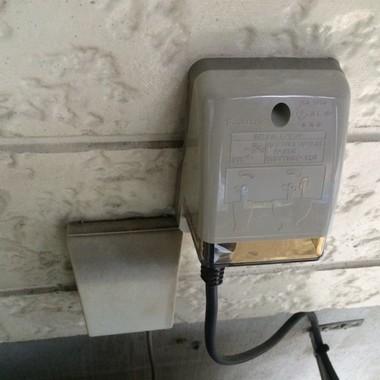 | 屋外防水コンセント取替え