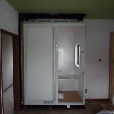 浴室を2階に移動工事
