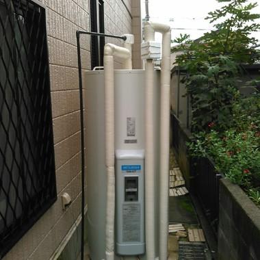 電気温水器を丸型温水器に変更