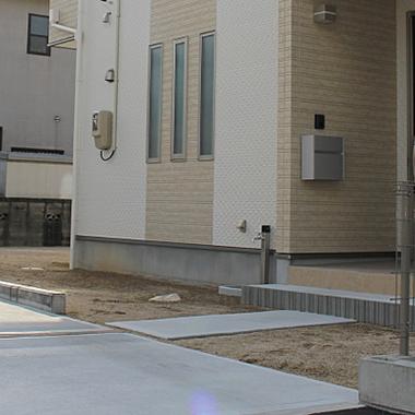 駐車スペースコンクリート整備