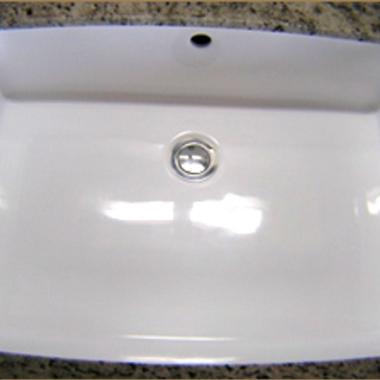 | 洗面台修復 ひび割れ・修理後