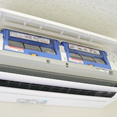| お掃除機能付きエアコンのクリーニング
