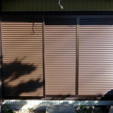 断熱仕様の雨戸付掃き出し窓への取替え 後 雨戸