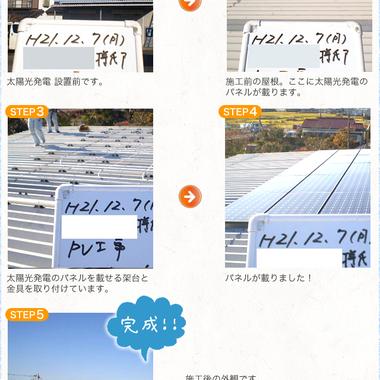 | 太陽光発電システム設置前と後