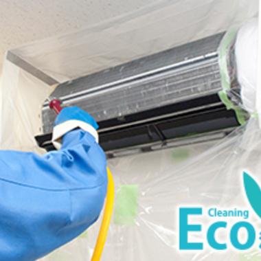 | エアコン壁掛けタイプ エコクリーニング 作業中