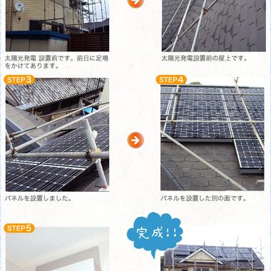 太陽光発電システム設置 前と後