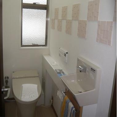 | トイレの便器 様式リフォーム 後
