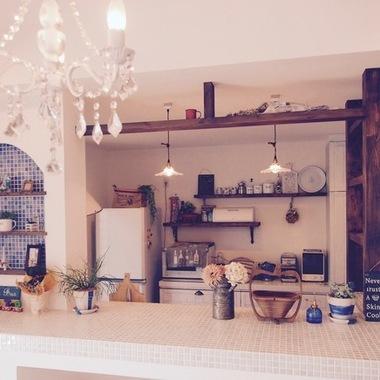 新築注文住宅しっくい キッチンカウンター