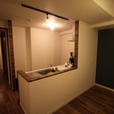 キッチン壁変更後 カウンター