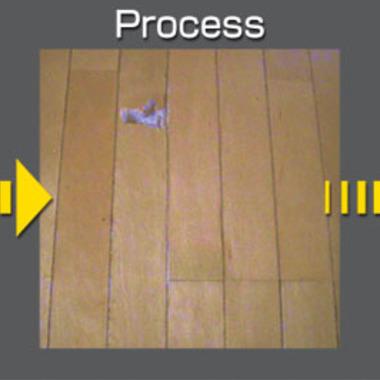 | 床の剥がれ補修