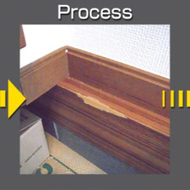 | 玄関幅木修繕