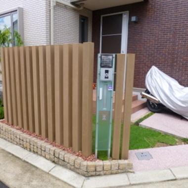 | バイク駐車スペース施工