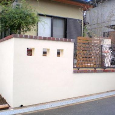| 外壁 ウッドフェンス設置 施工後