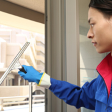 窓ガラス 水切り清掃