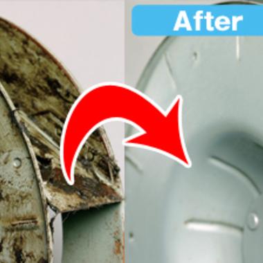 | プロペラタイプ 換気扇 清掃前清掃後比較写真