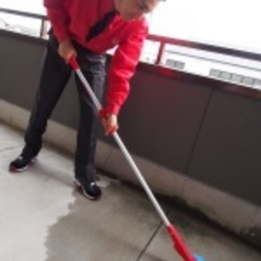 ベランダの掃除