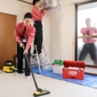 | 空室掃除中