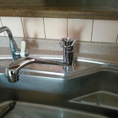 キッチン水栓の交換後