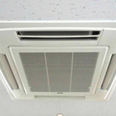 | エアコン天井埋込タイプ掃除後