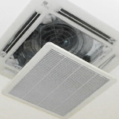 エアコン天井埋込タイプ 簡易清掃後