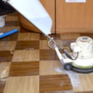 フロアクリーニング 洗浄のみ 作業中