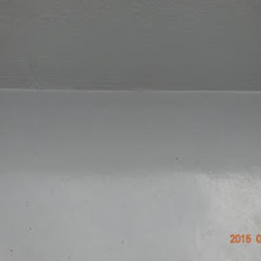 防水ウレタン塗装後 屋上床