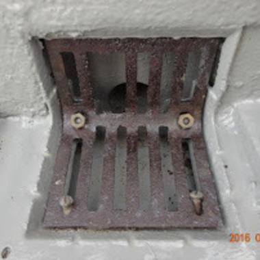 | ウレタン防水後の排水溝