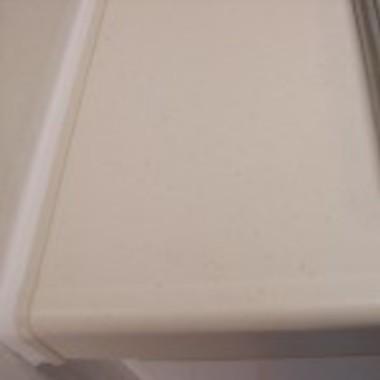 | キッチン人工大理石欠け補修後